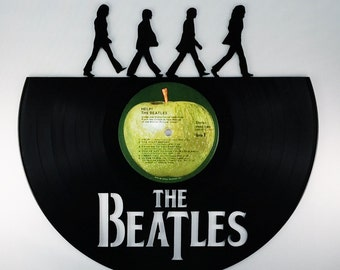 Recycled Vinyl Record BEATLES Wall Art