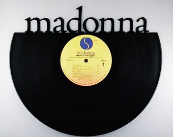 Recycled Vinyl Record MADONNA Wall Art