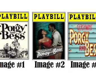 Theater / Show Charm - Playbill Play Bill - Porgy & Bess