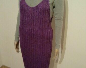 Purple knitted Latzrock