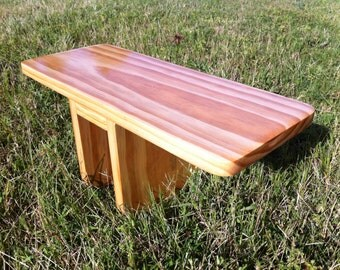 Hand Crafted Natural Pi Meditation Bench
