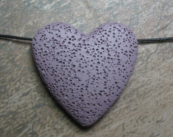 Lava Stone Bead - Pendant - Purple -  Item 71071