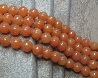 10 mm Red Aventurine Beads, full strand - Item B0051