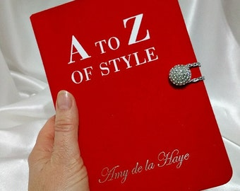 Book Clutch Purse  -  A to Z of Style by Amy de la Haye, Book Handbag, Red Book Clutch Bag, Fashion Book Cover Purse