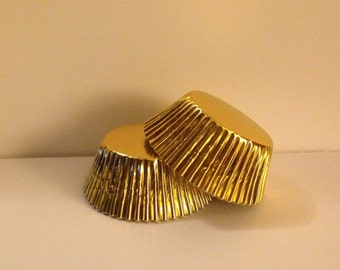 75 count -  Gold Foil standard size cupcake liners/baking cups