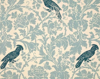 Blue Bird Fabric by the YARD Home Decor Upholstery Curtain Pillow Runner Slipcover Drapes Premier Prints Barber village natural SHIPsFAST