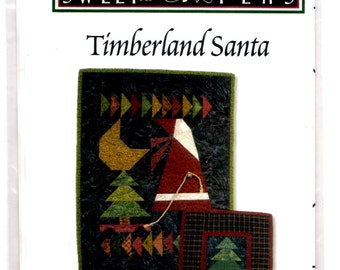 Timberland Santa Sweet Peas Foundation Paper Piecing Christmas Wall Quilt Wallhanging Pattern New