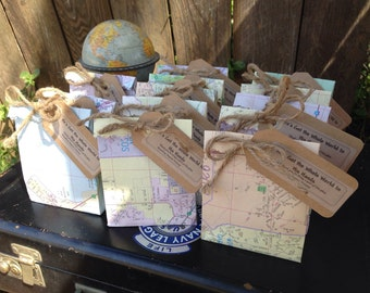 15 personalized mini-map favor bags