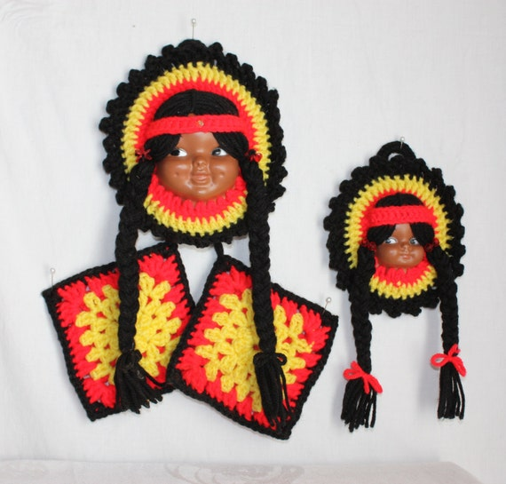 Items similar to midcentury native american doll face for Native kitchen designs and decors photos