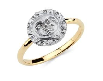 14K Two-Tone Sun Ring, Sun Ring, Sun Jewelry, Celestial Ring, Celestial Jewelry, Gold Sun, Gold Ring, Gold Jewelry, Sun, Celestial, Ring