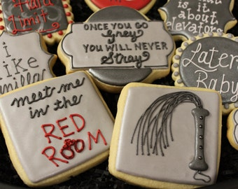 50 Shades of Grey Cookies, OPTION 3, Fifty Shades of Grey, Valentine's Day Cookies, Bachelorette, Lingerie Cookie 50 Fifty Shades Party