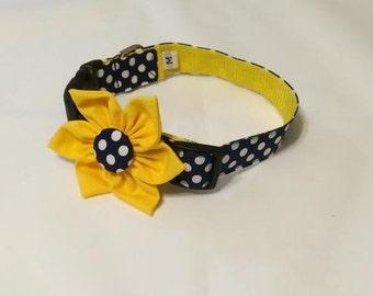 """Dog Flower Collar """"Maize Daisy"""""""