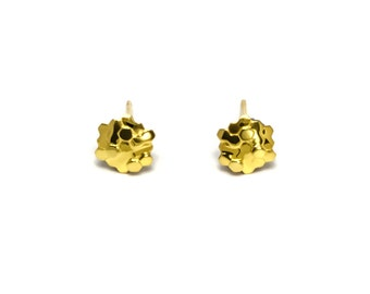 Honeycomb Studs - 22K Gold Plated Studs