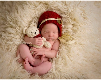 Newborn crocheted buddy bear set