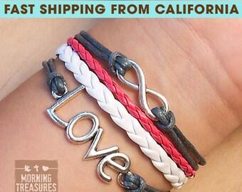 Bracelet, Infinity Bracelet, Infinity Wish Bracelet, Love Bracelet,  Friendship Bracelet - 538