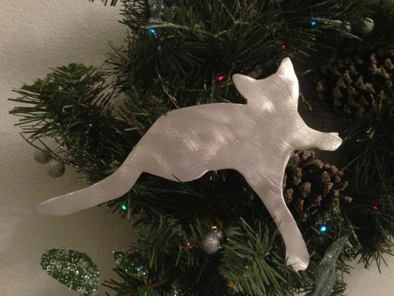 Teeny Little Kitty Cat Cat Christmas Tree Topper Wreath