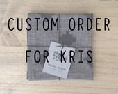 CUSTOM ORDER for Kris - 20 black cocktail napkins (10 sets of 2)