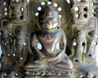 Ajinath of the 2nd Thirtankara.Jain Tirthankara Bronze Shrine Scupture