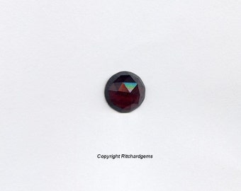 Natural Semi Precious Loose 6 mm Round Rose Cut Faceted flat bottom Garnet For One
