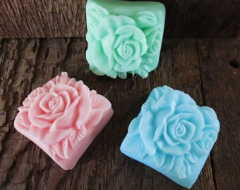Lovely Rose Shea Butter Soap Bar Wedding, Bridal Shower Favor, Hostess Gift 2.4 oz.