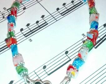 Millefiori Glass Bracelet