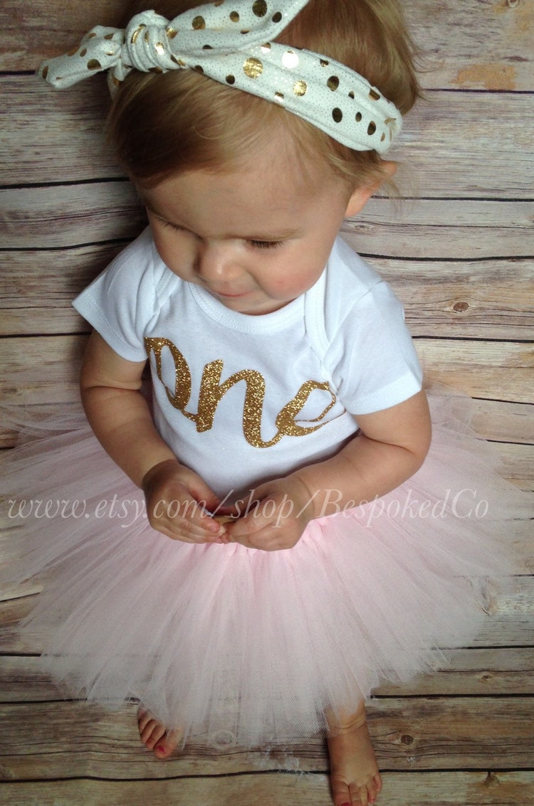 Girl First Birthday Outfit Pinterest: Baby Girls First Birthday Outfit With Knotted By BespokedCo