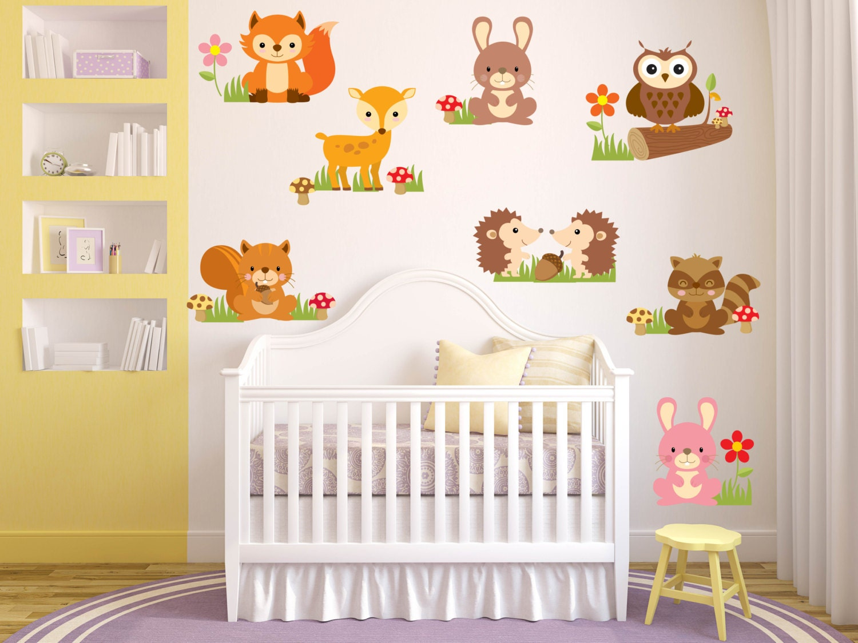 animal wall decals nursery wall decals baby girl nursery zoom