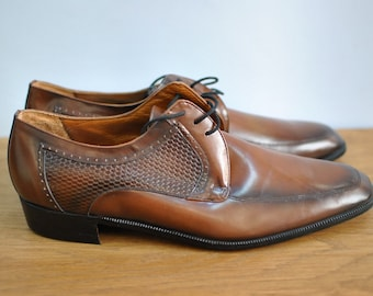Vintage FEITH Top last Fashion mens leather shoes....(026)