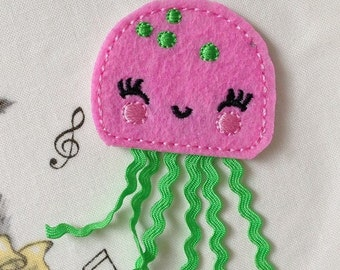 Wholesale lot 6pcs pink  jellyfish  Patch, Sewing Craft, DIY  applique