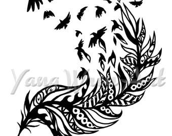 Spirit Feather 8 X 10 giclee print