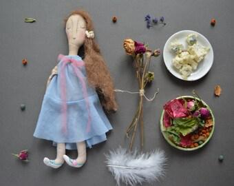 Art doll - Fabric toy - Soft fabric doll - Stuffed animal  - Vintage doll.