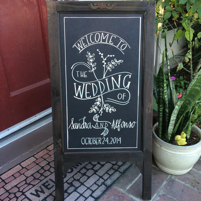 chalkboard easel wedding chalkboard chalkboard by sugarandchicshop