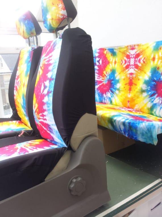Tie Dye Auto Seat Covers Velcromag