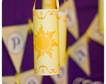 Tangled Birthday Party; Tangled Hanging Lanterns; Tangled Decor