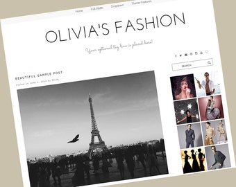 Wordpress theme responsive - wordpress template - Olivia's Fashion