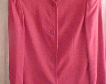 Vintage Giorgio Armani  Red Jacket, Size 8.