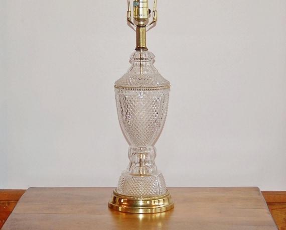 Lead Crystal Brass Lamp Tritschler Winterhalder Bleikristall