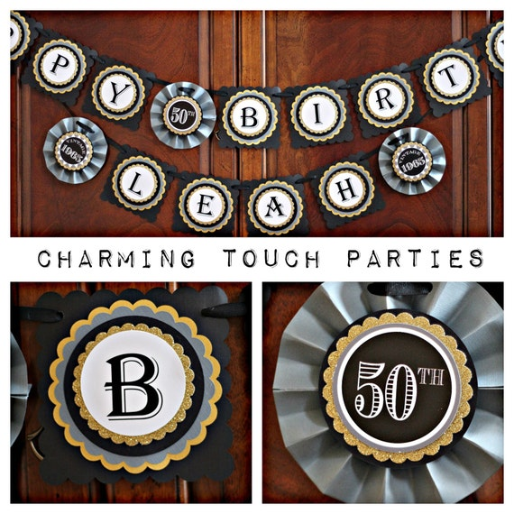 50th birthday banner 50th birthday party decorations cheers to 50