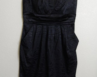 Charlotte Russe Size 12 Strapless Black Party Formal Dress