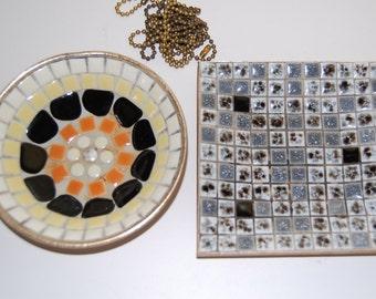 S A Organ Dachshund Two Vintage Mosaic Tri...