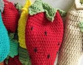 Strawberry Kitchen Bag Holder