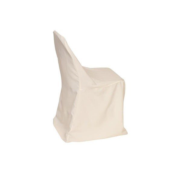 Polyester Folding Chair Cover Ivory Wedding Chair Covers