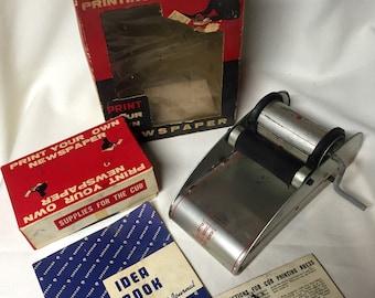 Vintage Superior Cub Rotary Printing Press - 1940s