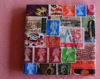 Postage Stamp Coaster, Set of 2