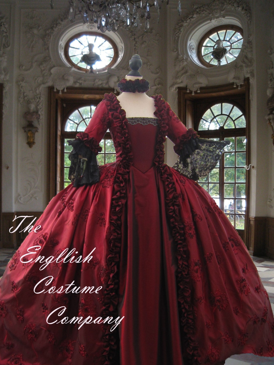 Christmas gown ideas 18th - Marie Antoinette Dress Georgian Taffeta Evening Gown Fully Boned For Authentic Bust Lift