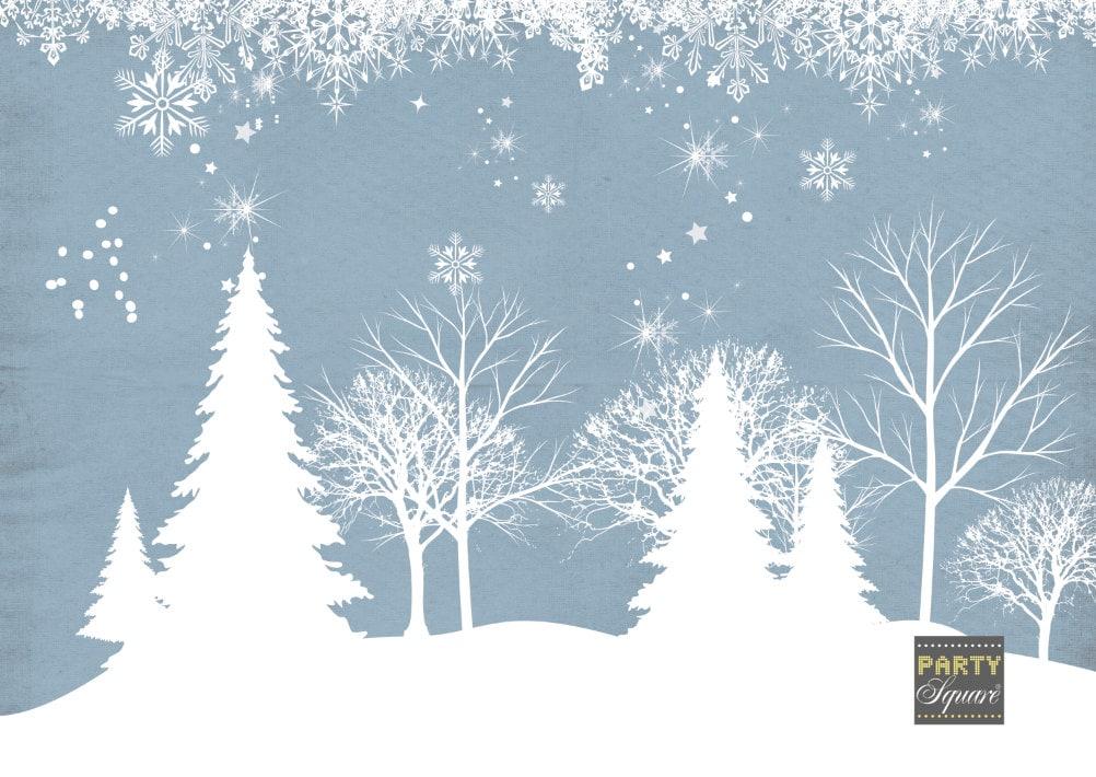 Winter Wonderland Backdrop For Christmas Dessert