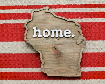 Wisconsin home. Rough Cut Mill Wood Wall Hanging