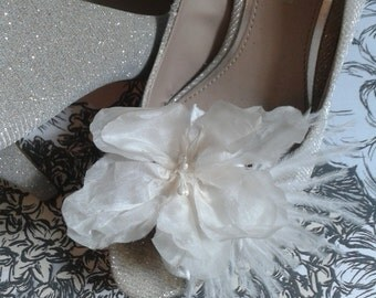 Gatsby inspired wedding, Wedding shoe clips, Ivory shoe clips.