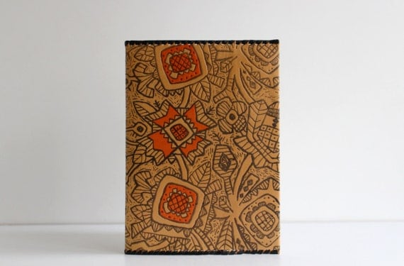 Old Book Cover Notebook ~ Unused vintage soviet leather book covers notebook or diary