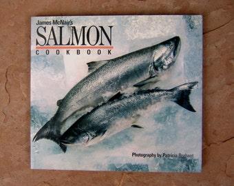 Salmon Cookbook by James McNair, vintage cookbook, James McNair's Salmon Cookbook, vintage 1987 cook book